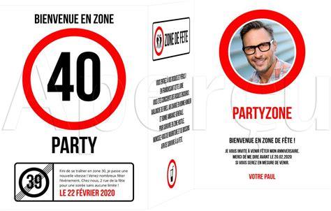Invitation 40 Ans Anniversaire Su15