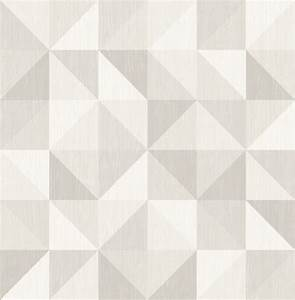 Puzzle Light Gray Geometric Wallpaper