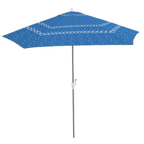 essential garden 9 ft patio umbrella gerald stripe blue
