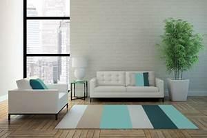 Deco Bleu Petrole : couleur salon bleu petrole et camaieux de beige ~ Farleysfitness.com Idées de Décoration