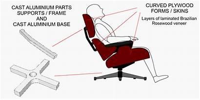 Chair Parts Lounge Eames Ottoman Components Aluminium