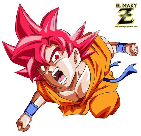 Goku Fnf Super Saiyan God By El Maky Z On Deviantart