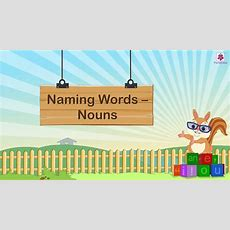 Naming Word Nouns For Kids  Grammar Grade 1  Nouns Part 1  Periwinkle Youtube