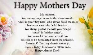 Happy Mothers Day Quotes, Sayings, Messages From Daughter