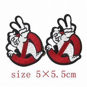 2Pcs Embird Ghostbuster Movie Embroidered Iron On / Sew On ...