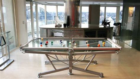 glass pool table mens gear