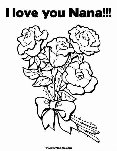 Nana Coloring Pages Adults Happy Birthday Printable