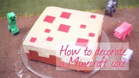 how to decorate a minecraft cake how to decorate a minecraft cake