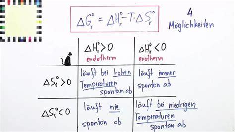 freie enthalpie chemie  lernen