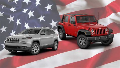jeep vehicles list jeep at the top of cars com list of american made vehicles