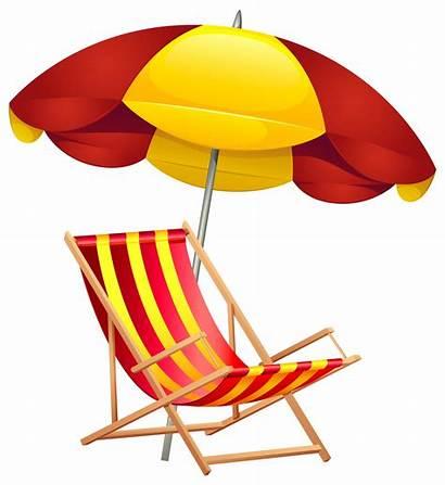 Beach Umbrella Clipart Clip Chair