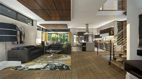 couleur cuisine salon air ouverte maison tanguay 2015 résidence de rêve à géométrie