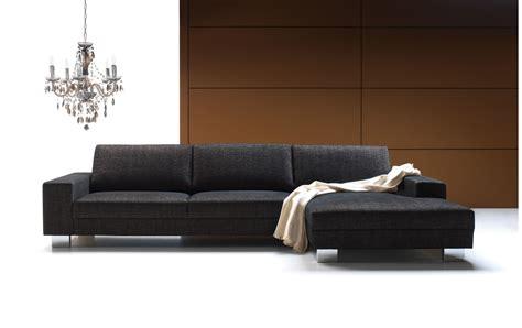 canapé contemporain canapé d 39 angle quattro gris méridienne droite set1 bona