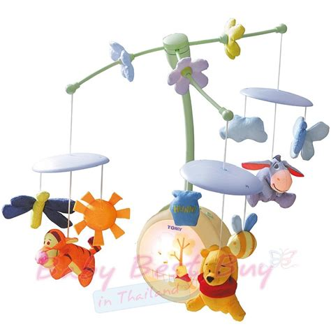 tomy winnie the pooh light up cot mobile baby cot