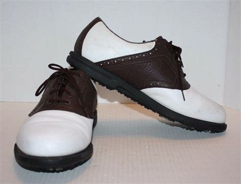 saddle shoes golf footjoy brown oxford comfort cleats