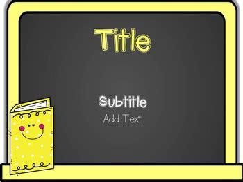 editable powerpoint template chalkboard  mrsesol tpt