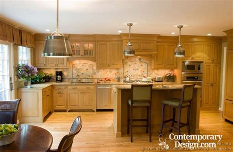 kitchen color ideas with light wood cabinets kitchens with light wood cabinets 9666