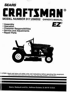 Sears 917 258552 Users Manual