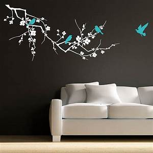 birds on branch wall stickers by parkins interiors