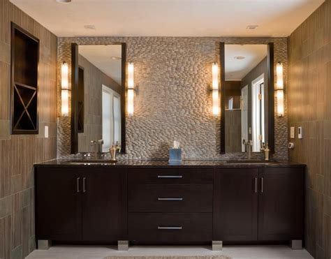 Modern Master Bathroom Vanities by Walnut Contemporary Bath Modern Bathroom Boston By