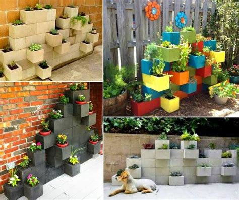 original cinder block ideas  diy yard decorations