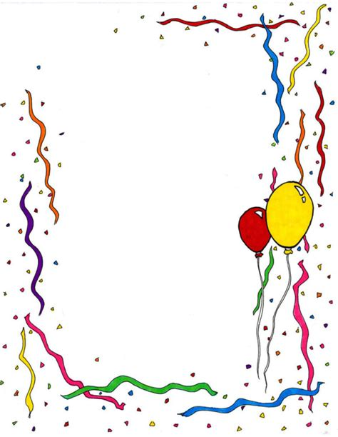 Free Birthday Clip Birthday Border Clipart Clipartion
