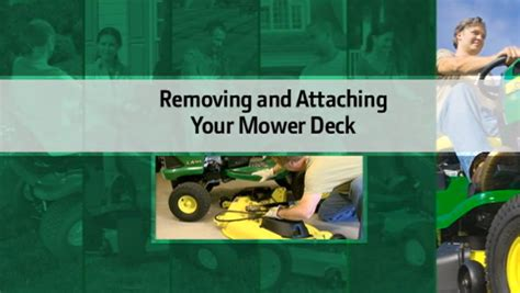 Deere Mower Deck Removal by 6 Deere Mower Maintenance To Stay