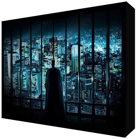 batman  dark knight gotham city kids room canvas