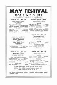 Ums Concert Program  February 25  1958  Seventy