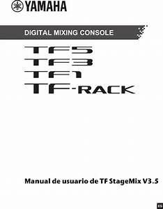 Yamaha Tf5  Tf3  Tf1  Tf Rack Manual De Usuario Tf Stagemix
