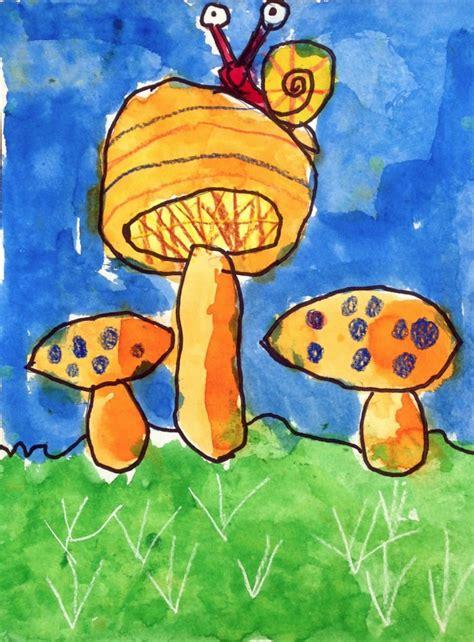 turners mushroom painting art projects  kids