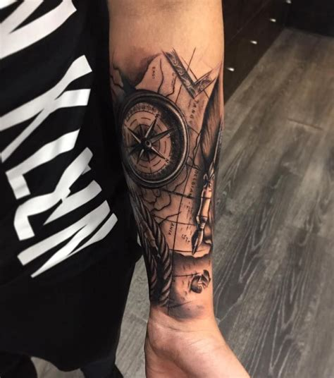 We did not find results for: Nautical compass tattoo by Cristian. Limited availability at Redemption Tattoo Studio. | Compass ...