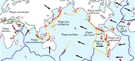 Carte Des Volcans Actifs Dans Le Monde by Les Volcans R 233 Partition Des Volcans Dans Le Monde