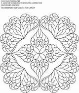 Stencils Quilting Quilling Heart Templates Patterns Motion Medallion Cloth Quilt Whole Hand sketch template