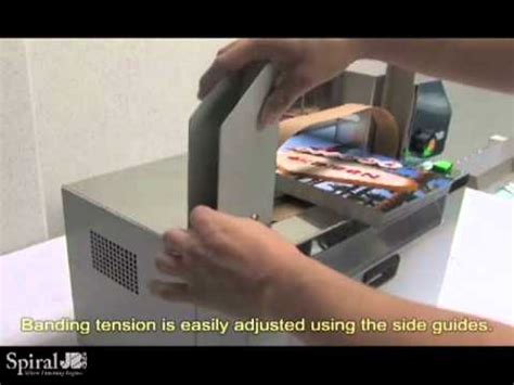 duplo   table top paper banding machine youtube