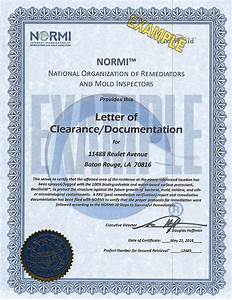 2016 louisiana flood resources With mold clearance letter
