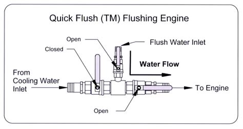 quick flush valve system boat engine flushing
