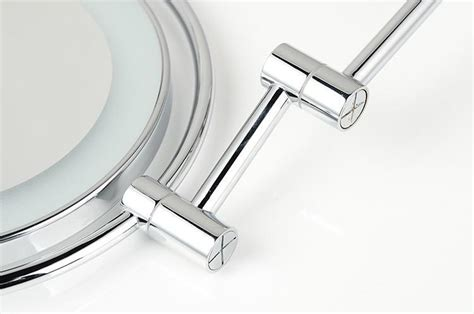 Brass Chrome Bathroom Led Cosmetic Mirror In Wall Mounted