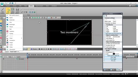 vsdc video editor animate text   objects youtube