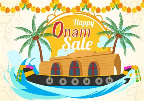 Onam Boat Icon by Happy Onam Sale With Kerala Boat Download Free Vector