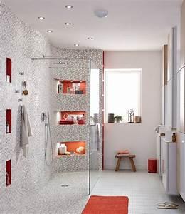 Une Grande Douche L39italienne Avec Des Touches De Orange