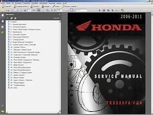 Honda Trx650fa-fga  2006-11  Rincon Atv - Service Manual