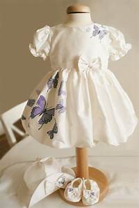 Baby Color Chart Purple Butterfly Aquarela Baby Hand Painted Dress