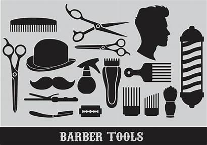 Barber Tools Vectors Graphics Scissors Outils Pattern