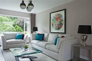 Wohnzimmer Bild Grau : wohnzimmer in grau 55 super designs ~ Michelbontemps.com Haus und Dekorationen