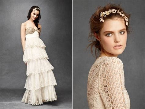Anthropologie's New Bridal Line- Ruffled Empire Wedding