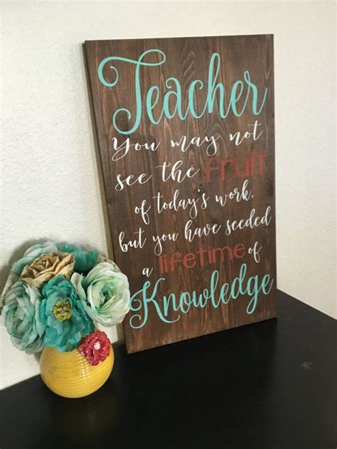 teacher sign great   gift httpswwwetsycom