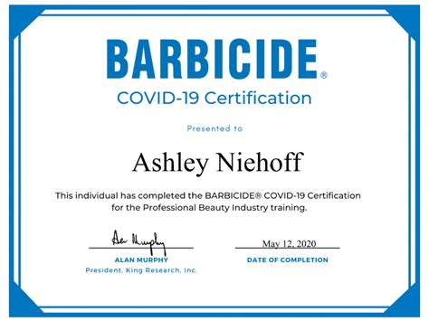 We Are Barbicide® COVID-19 Certified | Thairapy Lounge Salon