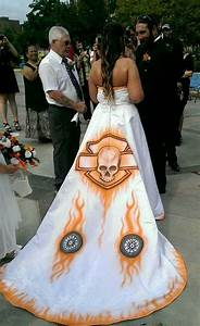 cute harley wedding gown diy biker wedding pinterest With motorcycle wedding dress