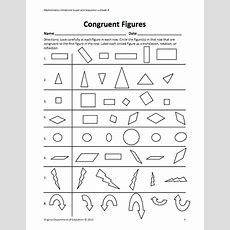 Here's A Lesson And Resources For Helping Students Learn About Congruent Figures  3rd Grade